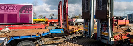 Second hand lowloaders in stock at Kleyn Trucks