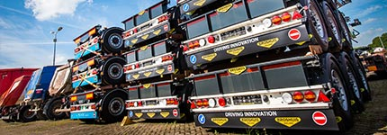 Stack of trailers from stock used trailers